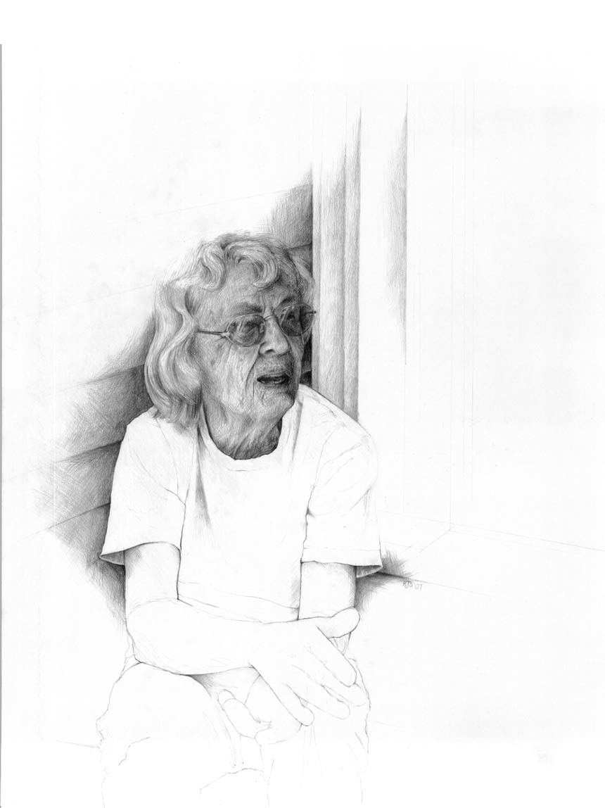 Graphite Pencil Portrait - Mary - by artist rebecca stahr