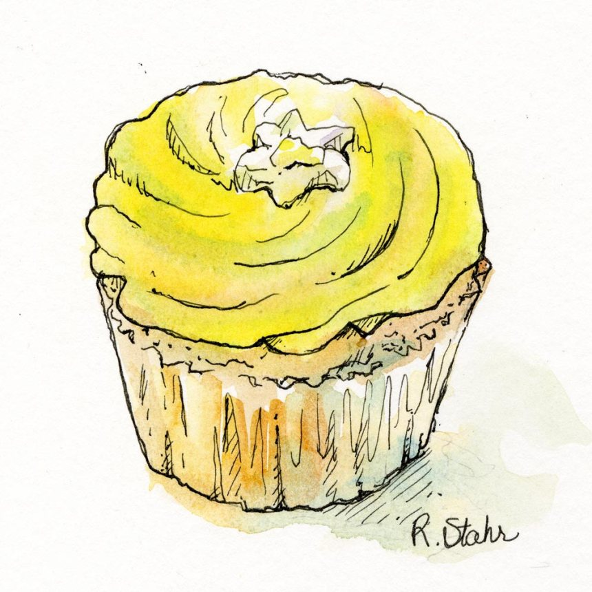 2013_watercolor_LemonCupcale002_6x6_web